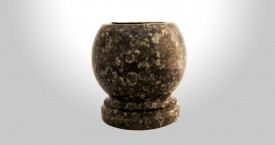 Baltic Green Granite Bowl Vase