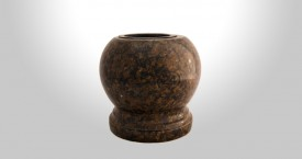 Coffee Brown Granite Bowl Vase