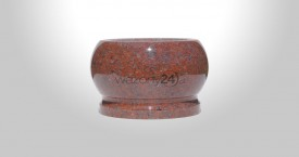 African Red Granite Bowl