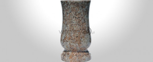 Kashmir Gold Granite Vase