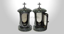 Olive Green Granite Tombstone Lantern