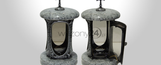 Whiscount White Granite Tombstone Lantern